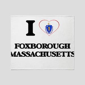 I love Foxborough Massachusetts Throw Blanket