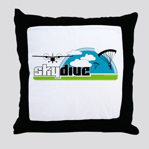 Skydive Dropzone Paradise Throw Pillow