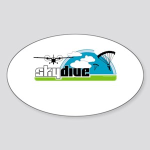 Skydive Dropzone Paradise Oval Sticker