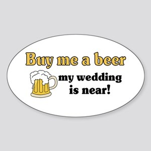 Buy me a beer Oval Sticker