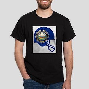 New Hampshire State Flag Football Helmet T-Shirt