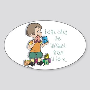 Singing My ABC's Oval Sticker