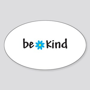 Be Kind - Oval Sticker