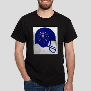 Indiana State Flag Football Helmet T-Shirt
