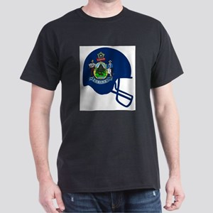 Maine State Flag Football Helmet T-Shirt