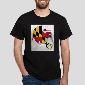 Maryland State Flag Football Helmet T-Shirt