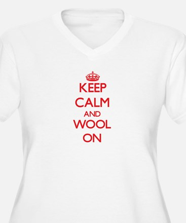 Keep Calm and Wool ON Plus Size T-Shirt