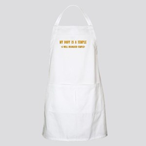 My Body Is A Temple BBQ Apron