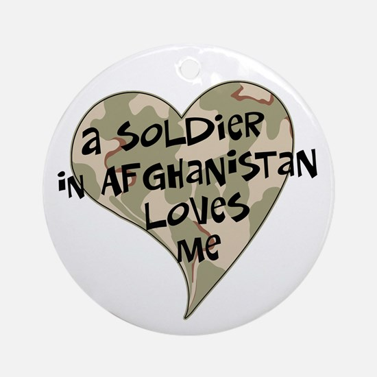 Afghanistan soldier love Ornament (Round)