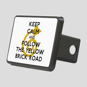 Keep Calm Yellow Brick Roa Rectangular Hitch Cover