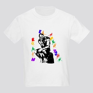 Rodin Thinker for Kids. Kids Light T-Shirt