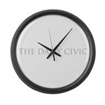 The Daily Civic Large Wall Clock
