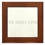 The Daily Civic Framed Tile