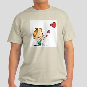 Blow Kisses Valentine Couple Light T-Shirt