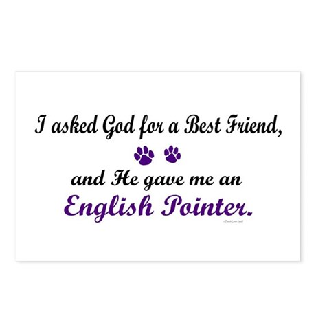 God Gave Me An English Pointer Postcards (Package