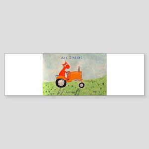 orange tractor Bumper Sticker