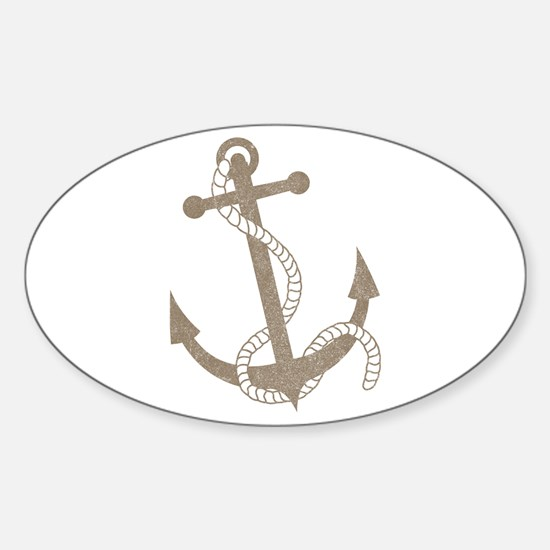 anchor Oval Decal