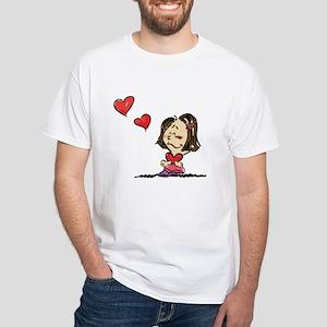 Blow Kisses Valentine Couple White T-Shirt