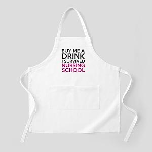 Buy Me A Drink I Survived Nursing School Apron