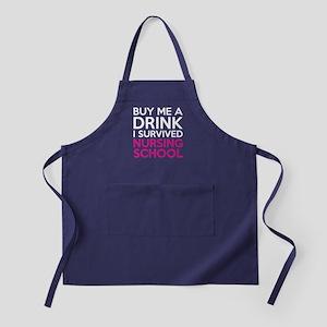 Buy Me A Drink I Survived Nursing School Apron (da