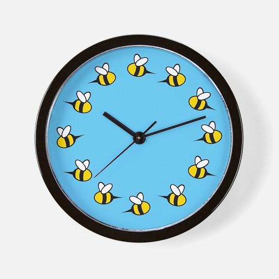 Cute Bees Wall Clock
