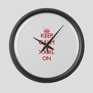 Keep Calm and Xxxl ON Large Wall Clock