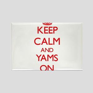 Keep Calm and Yams ON Magnets