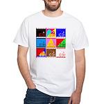 Fancy Colours White T-Shirt