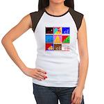 Fancy Colours Women's Cap Sleeve T-Shirt
