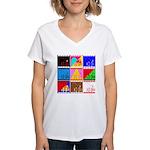 Fancy Colours Women's V-Neck T-Shirt
