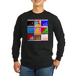 Fancy Colours Long Sleeve Dark T-Shirt
