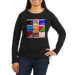 Fancy Colours Women's Long Sleeve Dark T-Shirt