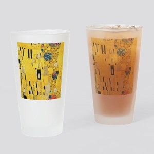 Klimt the Kiss Pattern Detail Drinking Glass