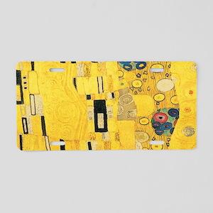 Klimt the Kiss Pattern Deta Aluminum License Plate