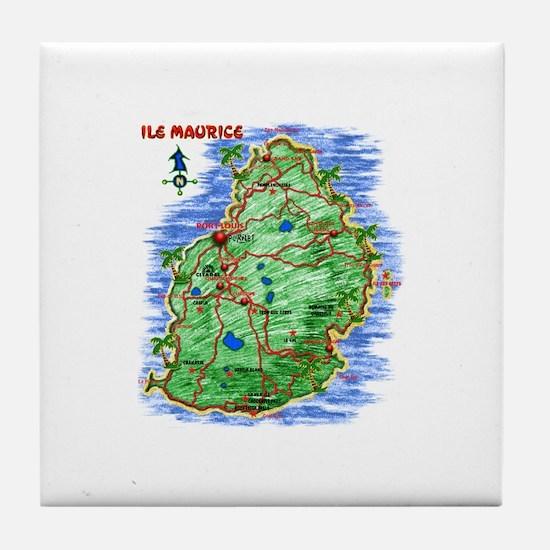 MAP-Mauritius Tile Coaster