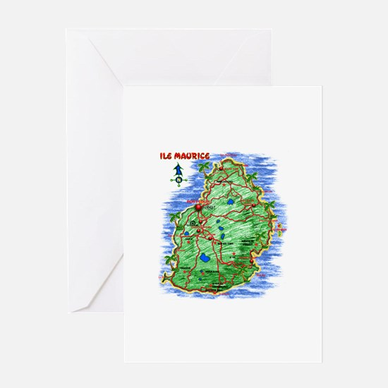 MAP-Mauritius Greeting Card