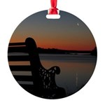 4/16 Moon at Sunrise Ornament