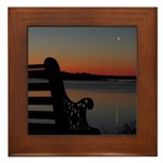 4/16 Moon At Sunrise Framed Tile