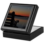 4/16 Moon At Sunrise Keepsake Box