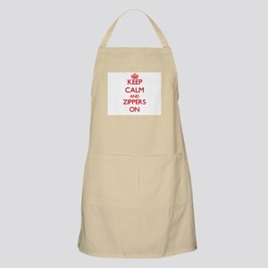 Keep Calm and Zippers ON Apron