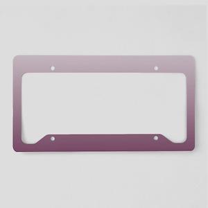 white burgundy ombre License Plate Holder