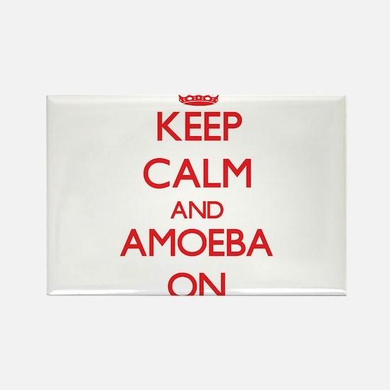 Keep Calm and Amoeba ON Magnets