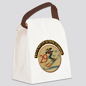 WW2 US Navy USN 'Lil Abner' 29 To Canvas Lunch Bag