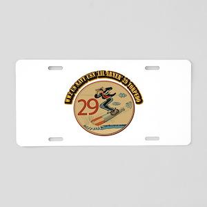 WW2 US Navy USN 'Lil Abner' Aluminum License Plate