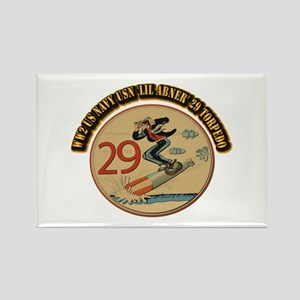 WW2 US Navy USN 'Lil Abner' 29 To Rectangle Magnet