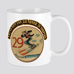 WW2 US Navy USN 'Lil Abner' 29 Torpedo Mug