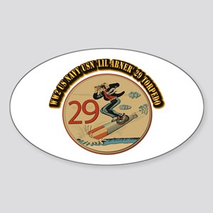WW2 US Navy USN 'Lil Abner' 29 Torp Sticker (Oval)