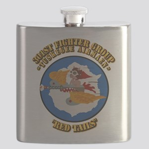 WWII Tuskegee Airmae Red Tail 301st FG Fight Flask