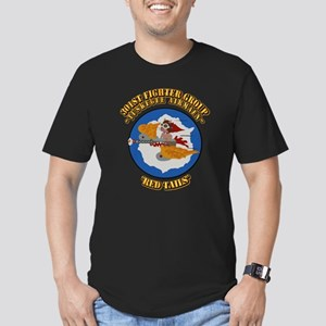 WWII Tuskegee Airmae R Men's Fitted T-Shirt (dark)
