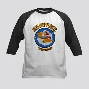 WWII Tuskegee Airmae Red Tail Kids Baseball Jersey